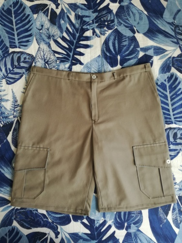 Finished shorts laid flat...